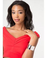 Bebe | Metallic Sleek Metal Hinge Bracelet | Lyst