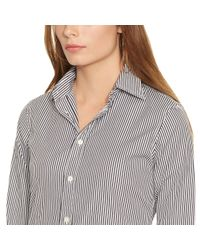 Polo Ralph Lauren - Black Custom-fit Striped Shirt - Lyst