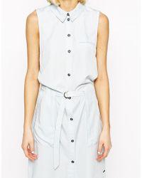 Vero Moda | Blue Shirt Dress | Lyst