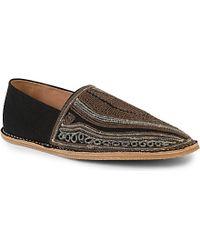 Dries Van Noten Black Embroidered Slippers - For Men for men