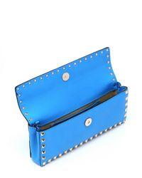 Valentino - Blue Leather 'rockstud' Bangle Wristlet Clutch - Lyst