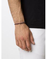 M. Cohen - Red Mini Skull Friendship Bracelet for Men - Lyst