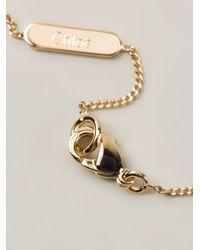 Chloé - Metallic Blown Glass Necklace - Lyst