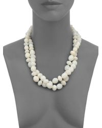 kate spade new york | White Give It A Swirl Twisted Necklace | Lyst