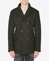 Billy Reid - Bond Peacoat - Heather Green for Men - Lyst
