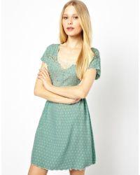 Sugarhill | Green Hearts Butterfly Dress | Lyst