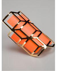Pierre Hardy Orange Long Geometric Cuff for men