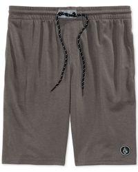 Volcom - Gray Romer Athletic Shorts for Men - Lyst