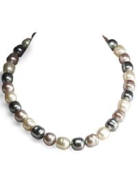 Majorica | Brown Mixed-pearl Necklace | Lyst