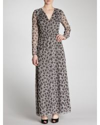 INTROPIA Black Belted Floral Maxi Dress