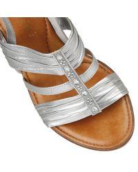 Lotus | Metallic Chilivani Wedge Sandals | Lyst