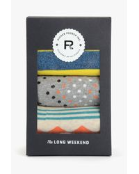 7 For All Mankind | Richer Poorer The Long Weekend 3-pack Sock Set In Yellow | Lyst