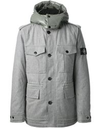 Stone Island - Gray Padded Jacket for Men - Lyst
