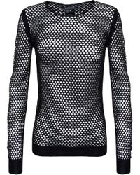 Ann Demeulemeester | Black Fishnet Top | Lyst
