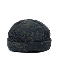 By Walid - Gray Embroidered Hat for Men - Lyst