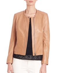 Joie Brown Tamila Leather Jacket