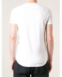 DSquared² White Escape Illustrated T-Shirt for men