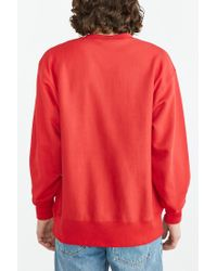Champion Red Reverse Weave Sweatshirt for men