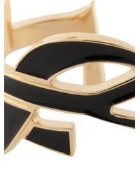 Saint Laurent | Black 'monogram' Bangle | Lyst
