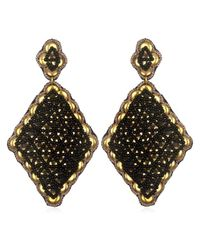 Suzanna Dai | Metallic Fes Large Drop Earrings, Gold/black | Lyst
