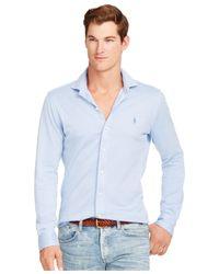 Polo Ralph Lauren | Blue Knit Estate Dress Shirt for Men | Lyst