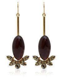 Marni - Purple Burgundy Resin Drop Earrings - Lyst