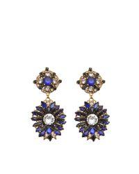 Erickson Beamon | Blue Queen Bee Earrings | Lyst