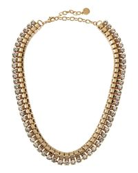R.j. Graziano | Metallic Golden Coin Fringe Necklace | Lyst