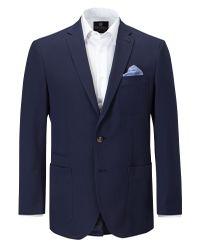 Skopes Blue Bern Textured Single Breasted Blazer for men