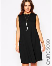 ASOS | Red Sleeveless Swing Dress | Lyst