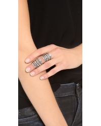 Pamela Love | Metallic Double Cage Ring - Silver | Lyst