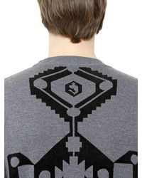 Givenchy - Gray Carpet Motif Wool Jacquard Sweater for Men - Lyst