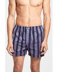Derek Rose | Blue Cotton Boxer Shorts for Men | Lyst