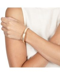 Astley Clarke - Metallic Peach Blush Honeycomb Bangle - Lyst
