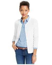 Tommy Hilfiger White Button-Front Cardigan