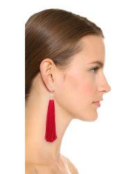 Adia Kibur - Red Zoe Tassel Earrings - Lyst