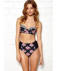 Forever 21 - Multicolor Glam Suite Highwaisted Bikini Bottom - Lyst