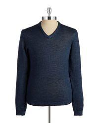Strellson Blue V-Neck Knit Pullover for men
