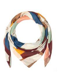 Vivienne Westwood - Multicolor Ecru Harlequin Wool-blend Scarf - Lyst