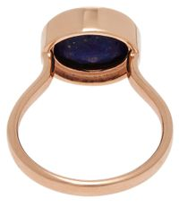 Monica Vinader - Metallic Rose Gold-plated Lapis Candy Ring - Lyst