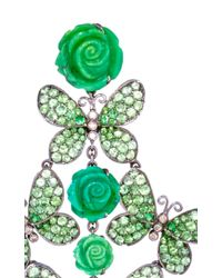 Lydia Courteille Green One Of A Kind Amazonia Earrings