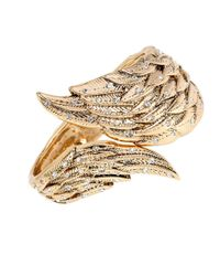 Betsey Johnson | Metallic Heaven Sent Crystal Wing Cuff Bracelet | Lyst