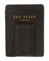 Ted Baker - Black Patterned Card Holder - Lyst