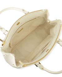 Tory Burch - White Robinson Stitched Mini Double Satchel Bag - Lyst