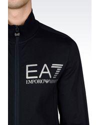 EA7 | Blue Zip Sweatshirt for Men | Lyst