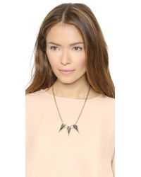 Rebecca Minkoff - Metallic Triple Blades Necklace - Black Diamond Crystal - Lyst
