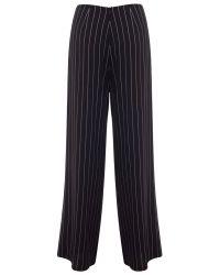 Miss Selfridge Black Pinstripe Wide Leg Trousers