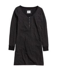 H&M Black Jersey Nightdress