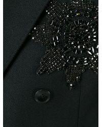 Alexander McQueen - Black Embellished Badge Blazer for Men - Lyst