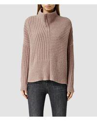 AllSaints | Pink Penryn Sweater Usa Usa | Lyst